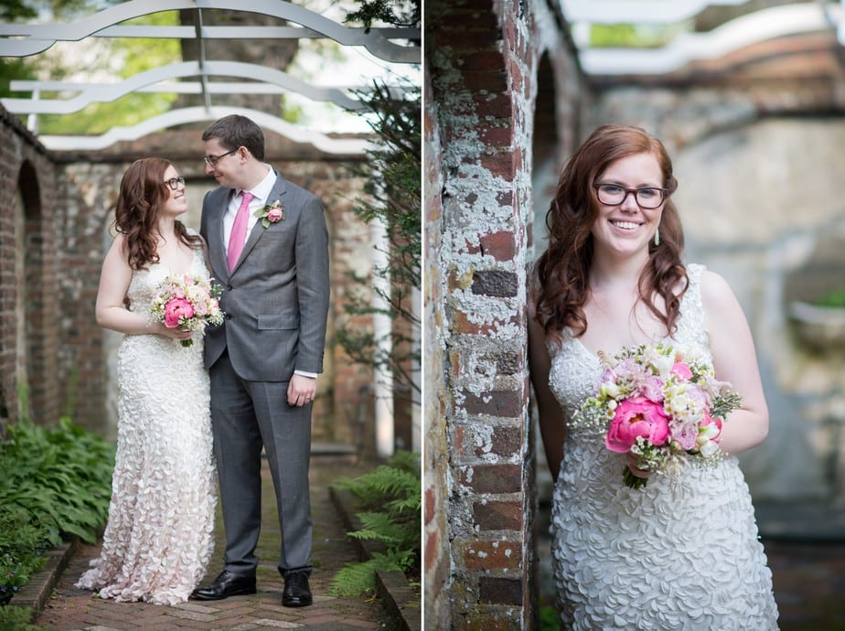 Bride and Groom Portrait at Keeler Tavern Museum