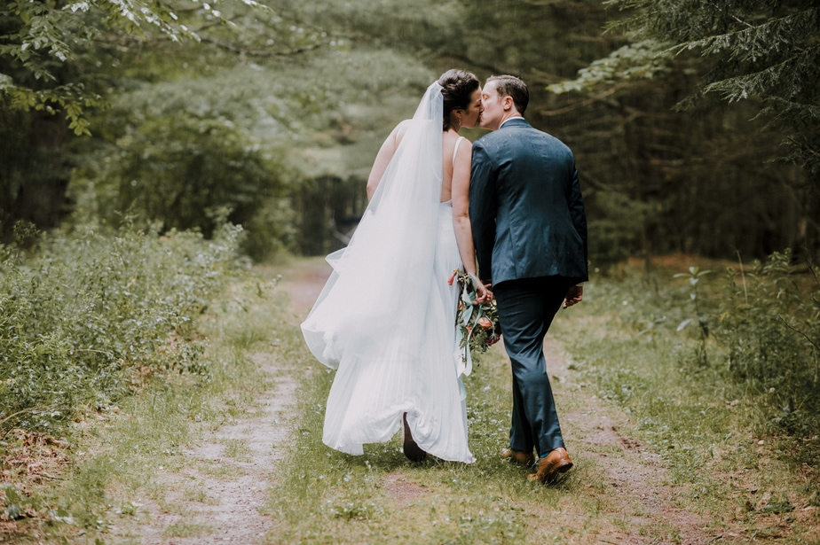 Bride and Groom Portrait at a Highlands Country Club Wedding in Garrison, NY