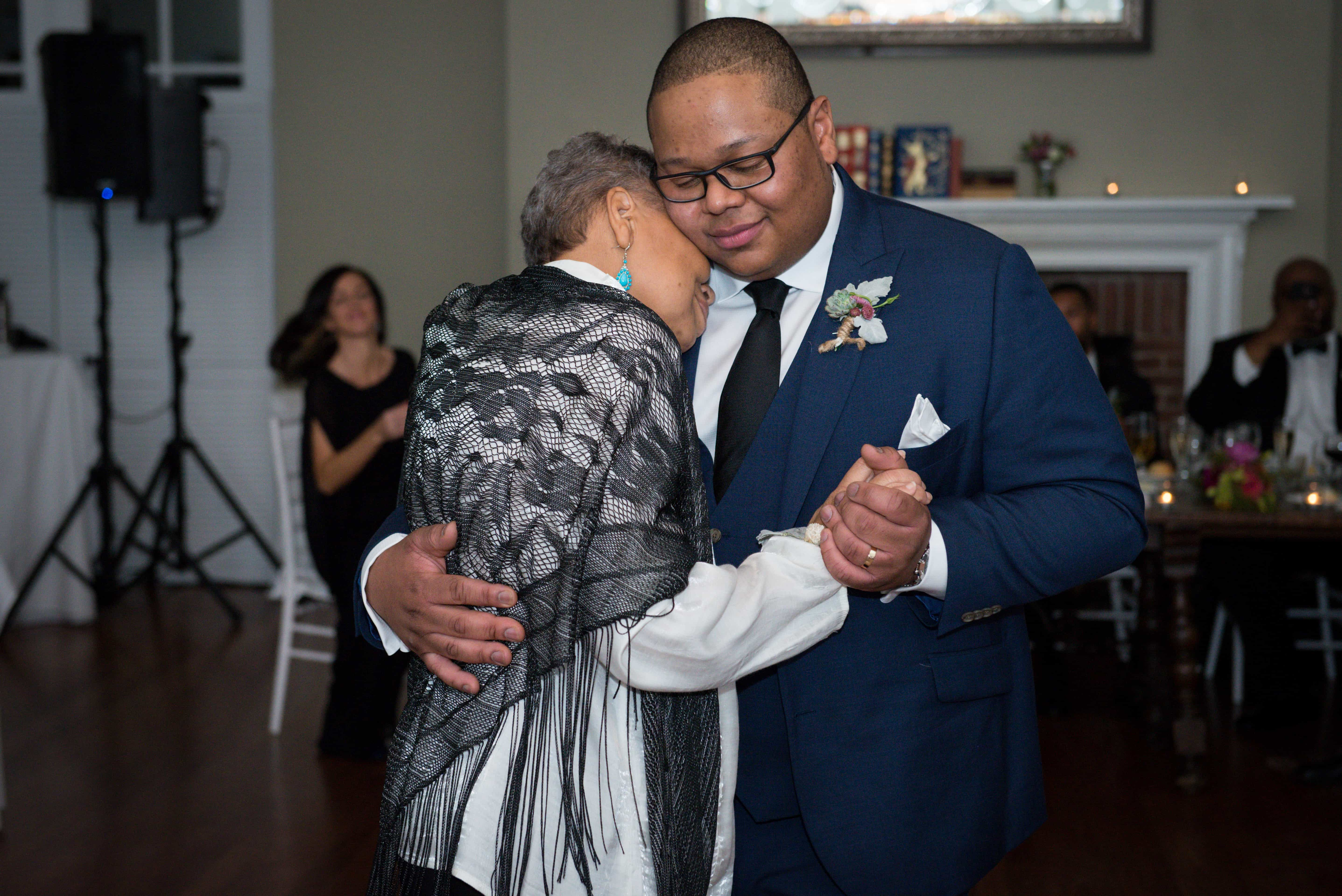 Hudson Valley Wedding Photographer, Mother and Groom wedding dance at a Highlands Country Club Wedding in Garrison, NY