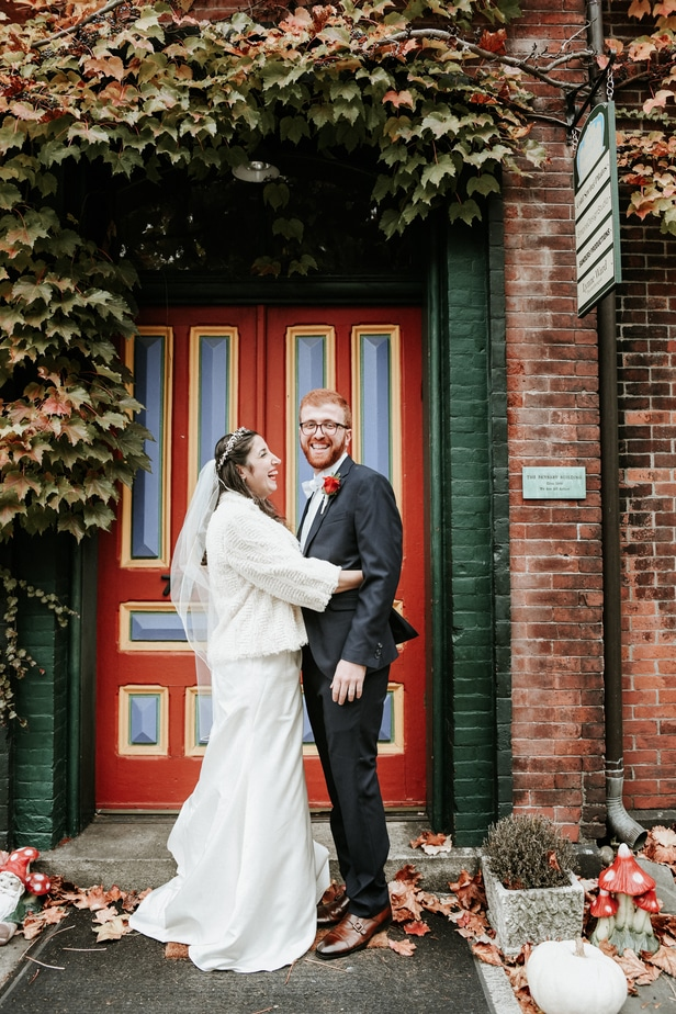 Groom and His Parent at a Garrison, NY Wedding