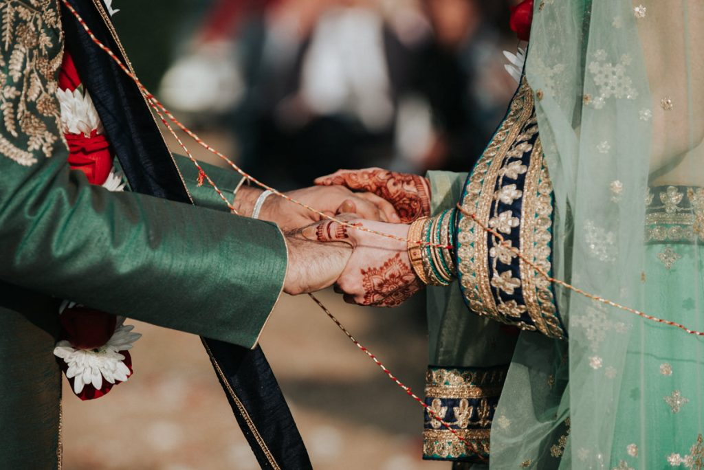 Indian wedding detail in upstate new york