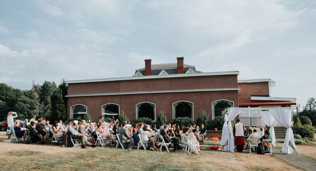 Dutchess Manor wedding ceremony in Beacon, NY