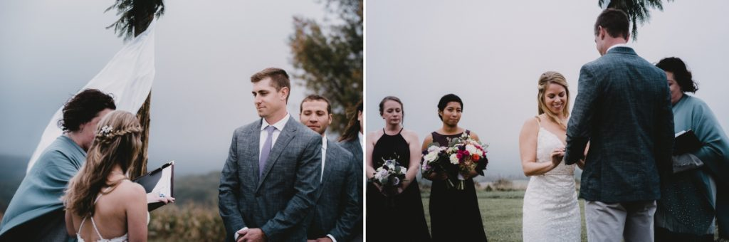 Globe Hill wedding ceremony at Ronnybrook Farm