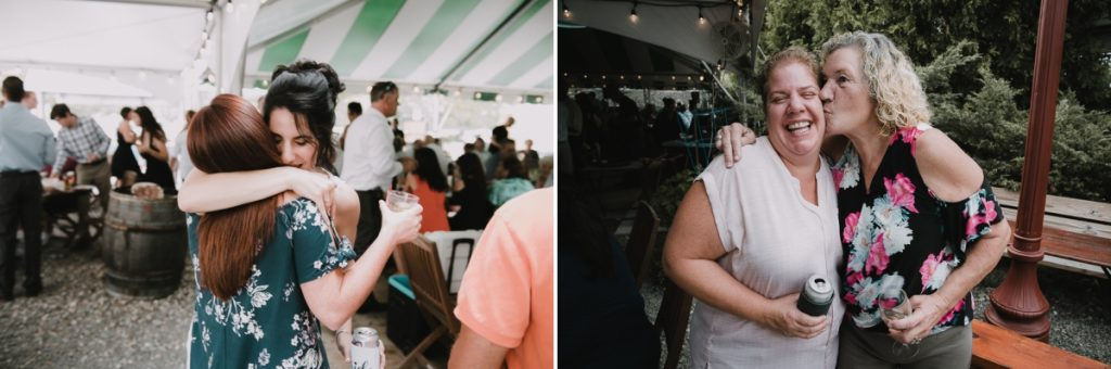 Fun wedding photos of guests at a Fishkill Golf Course wedding reception