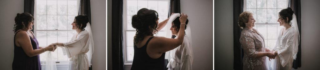 A Cold Spring Wedding, photos of bride getting ready