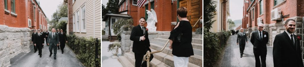Our Lady Of Loretto church wedding in cold Spring, NY