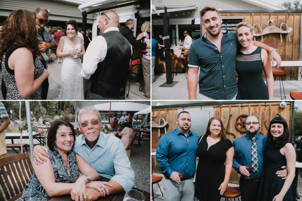 Candid wedding photos of guests at a Fishkill Golf Course wedding