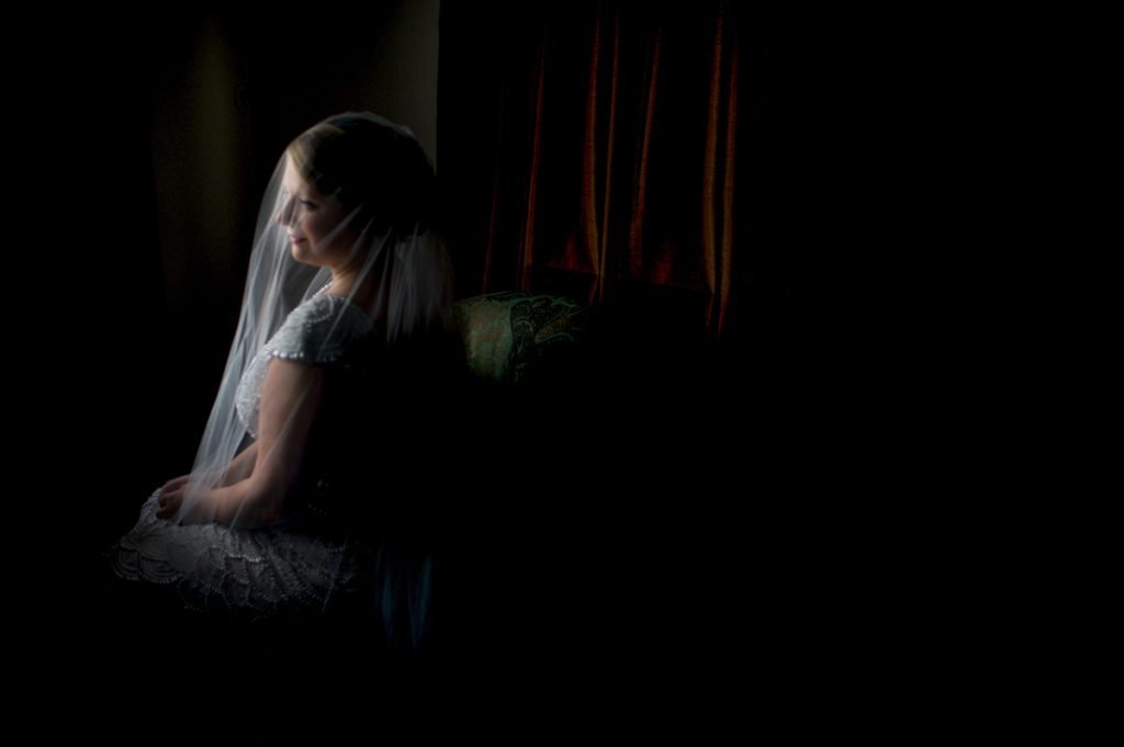 dark and moody wedding photography