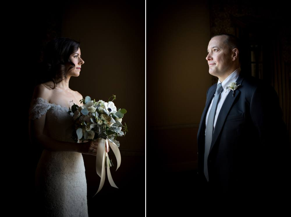 Dark and Moody wedding photo