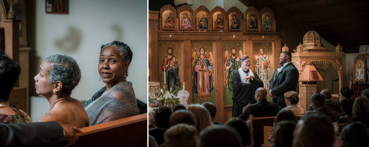 st. basil in garrison ny wedding ceremony photos