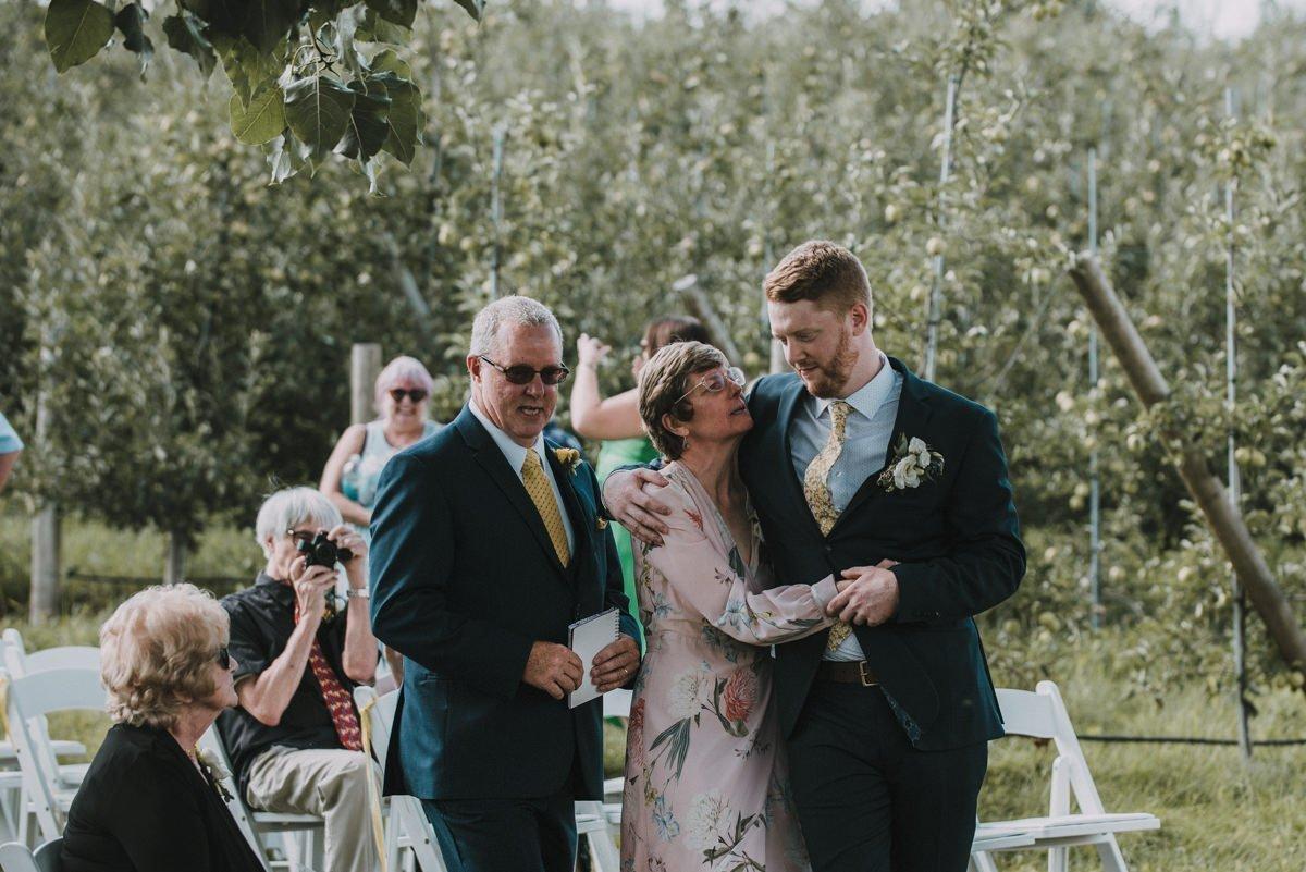 candid wedding ceremony photo