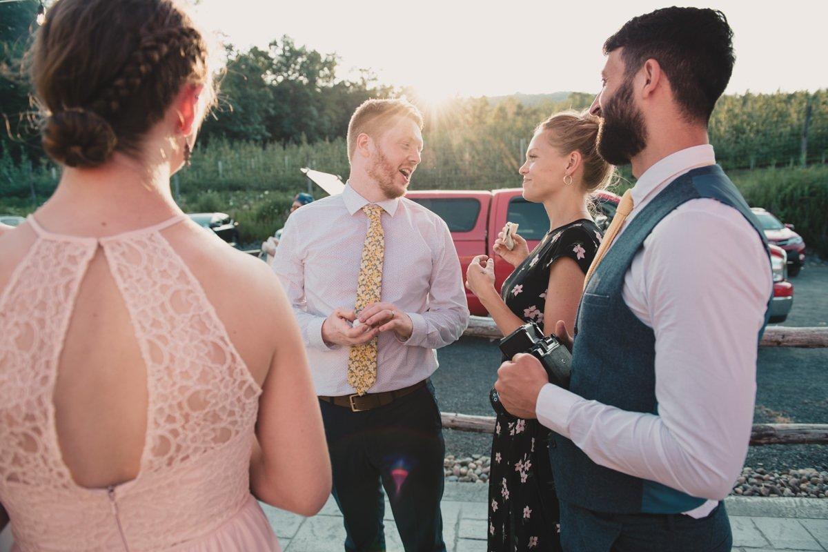 groom at bad seed cider wedding