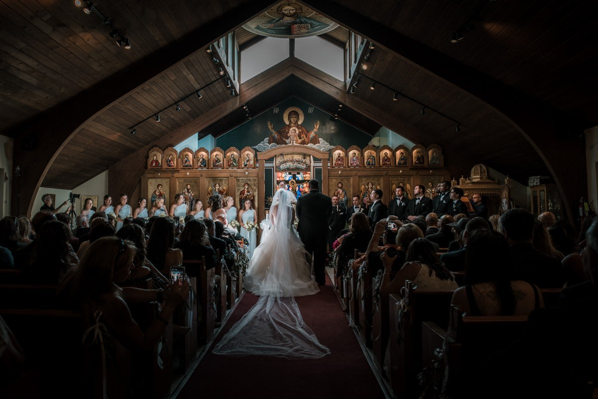 st basil chapel wedding photo in garrison ny