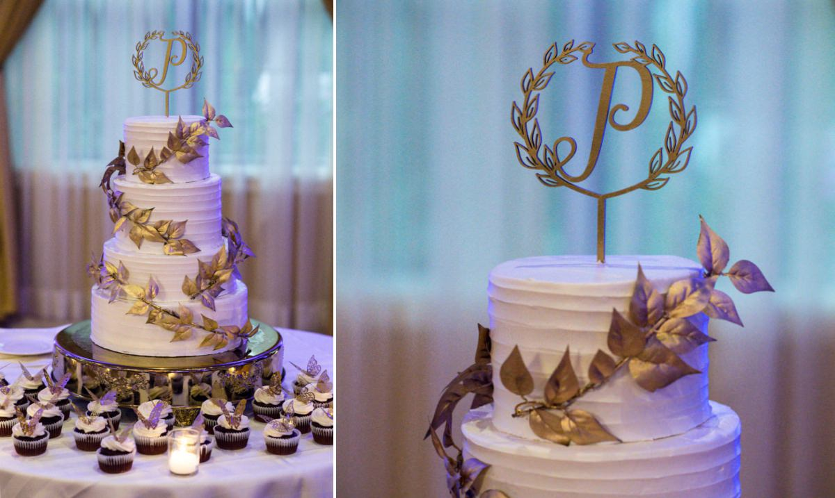 Poughkeepsie Grand wedding cake detail