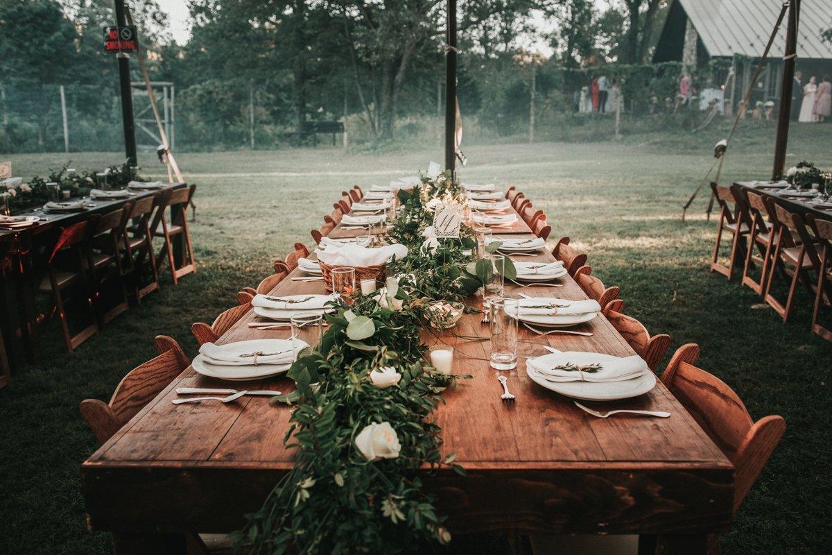 hudson valley wedding table centerpiece