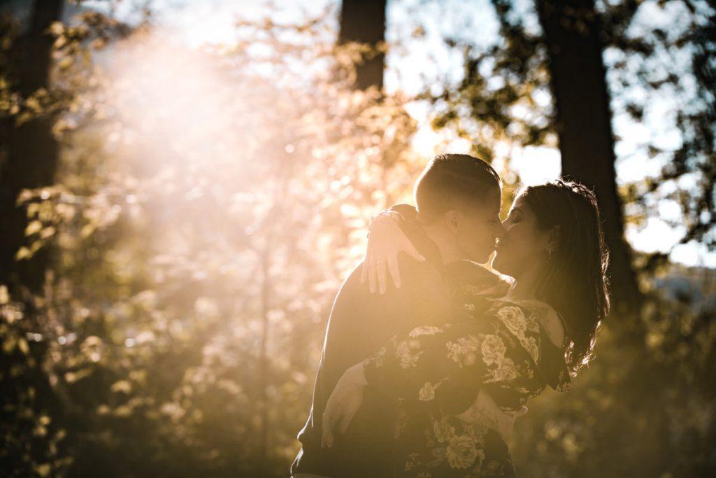 sun kissed pre-wedding photo