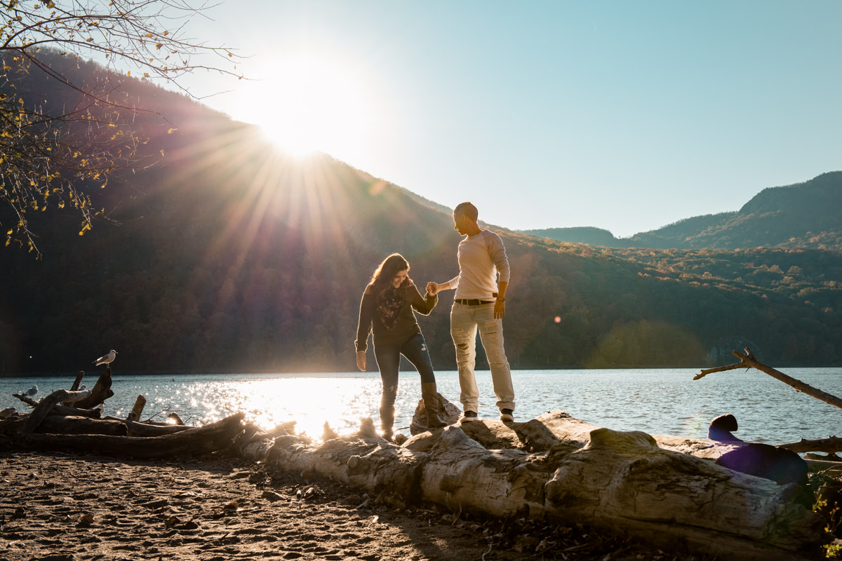 cold spring engagement photographers