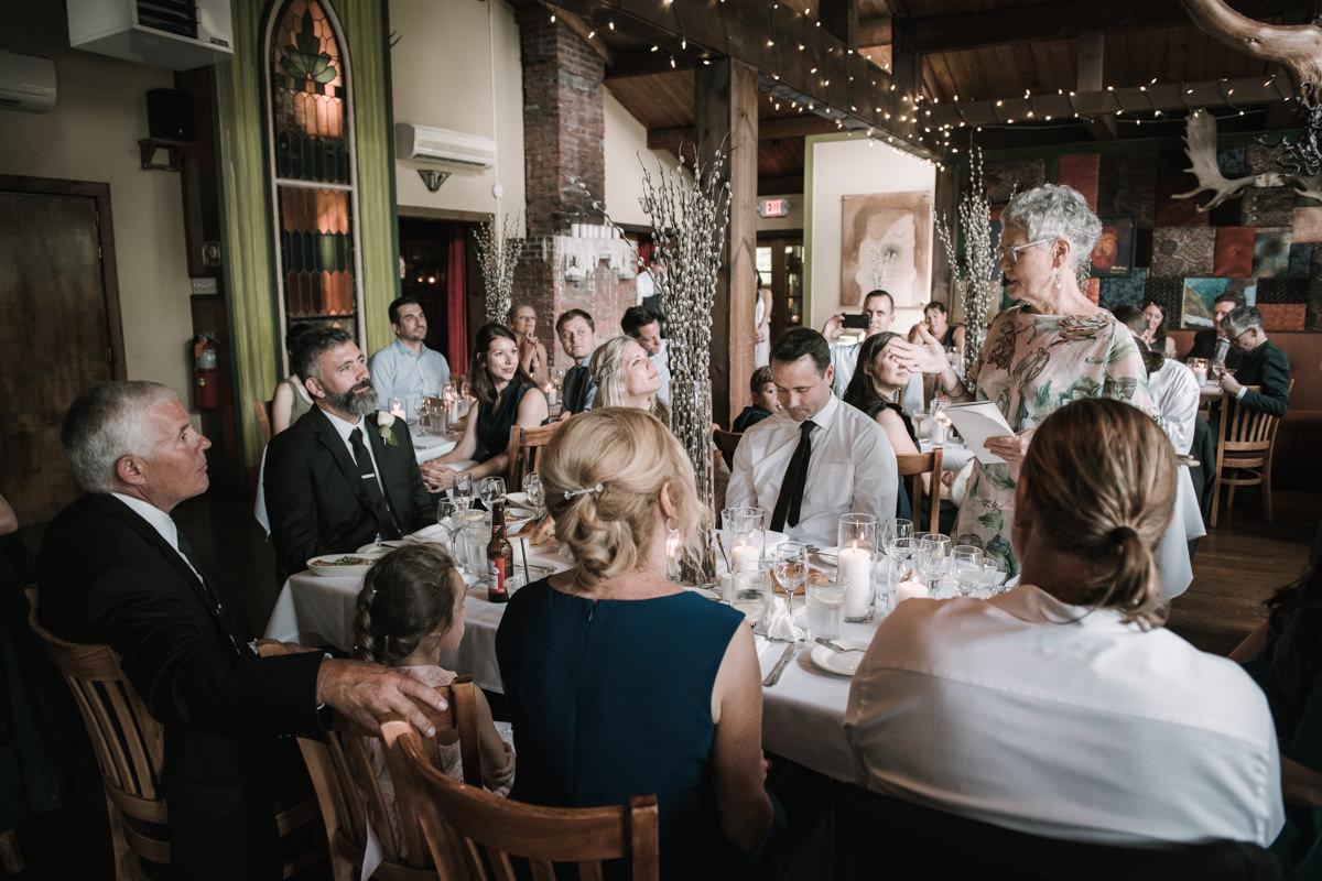 wedding at peekamoose restaurant