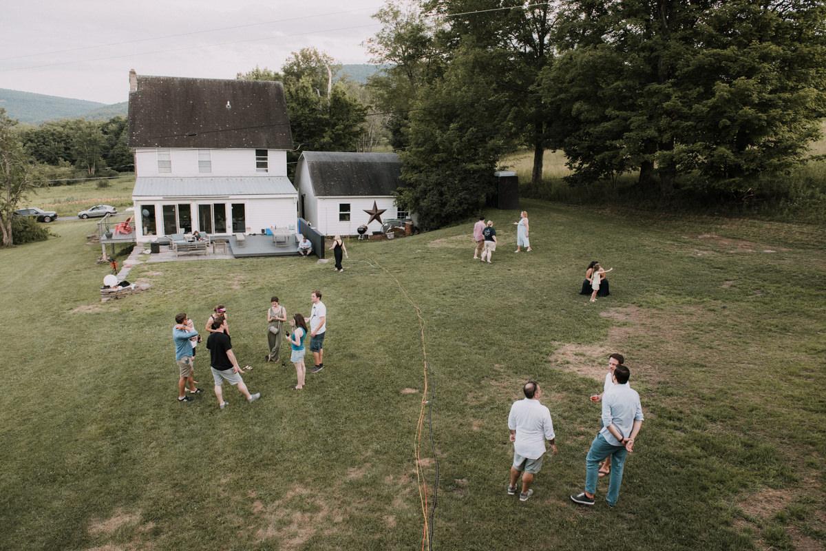 catskills backyard wedding
