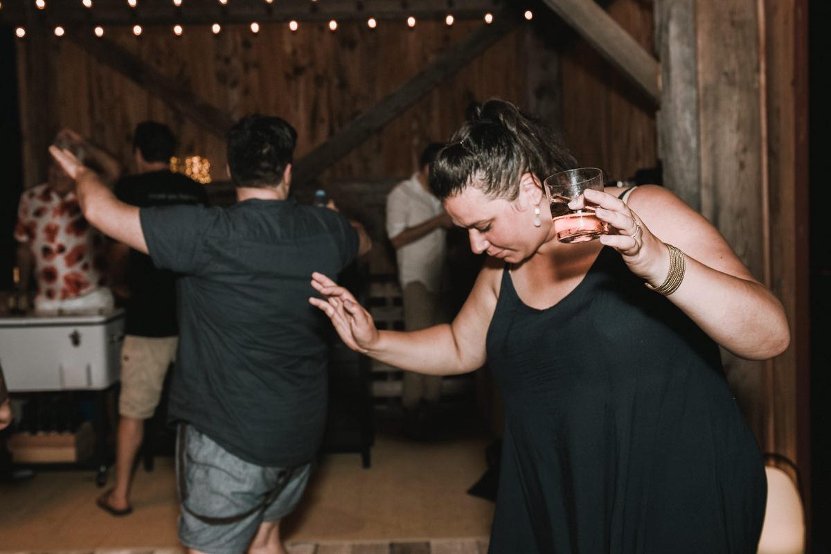 casual barn wedding