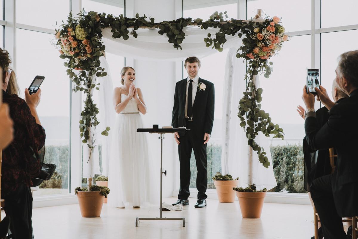 The Garrison Inside wedding ceremony