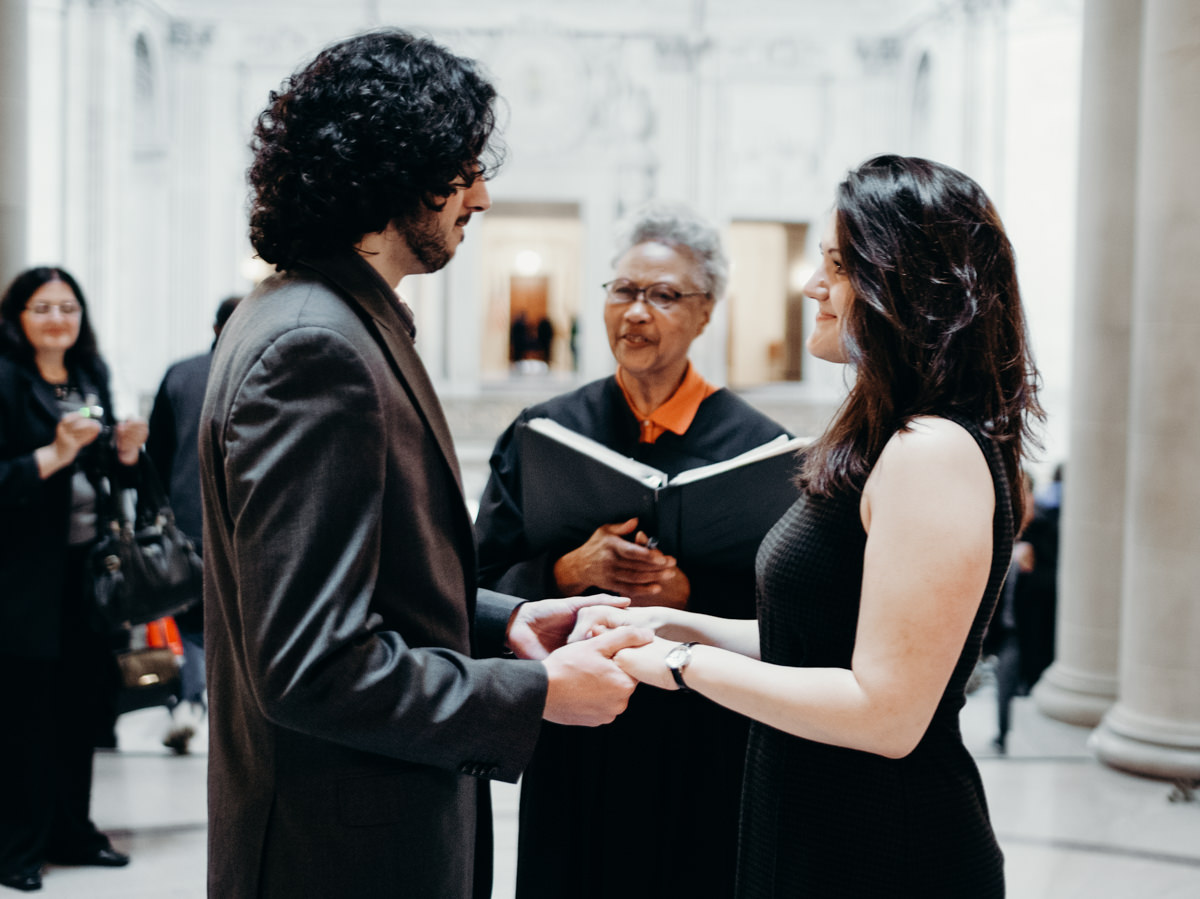 City hall elopement photographer