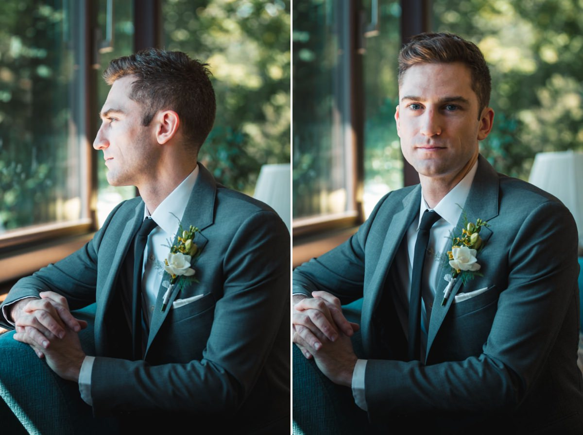 Cold Spring wedding photographer, groom portrait