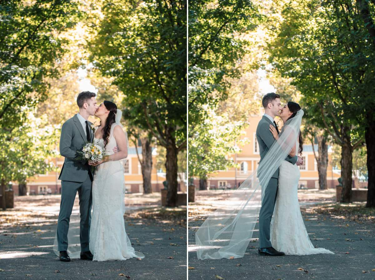boscobel house and garden wedding portraits