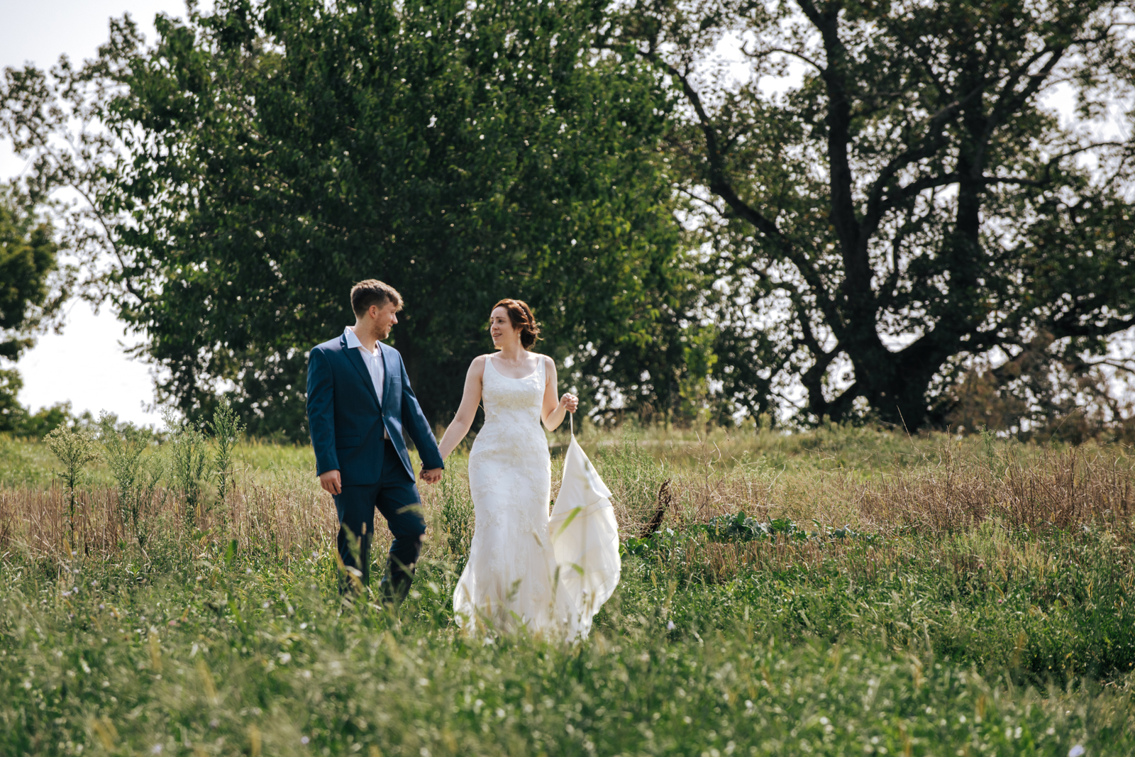 Intimate Blue Hill at Stone Barn Wedding